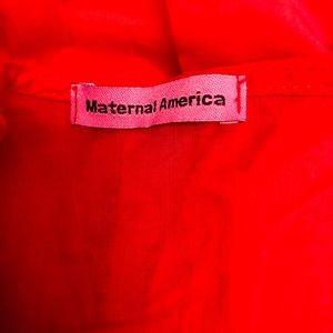 Maternal America Tops - Maternal America Tuxedo/Pleated Long Scarlett Top